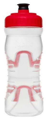 Fabric láhev 600ml - Clear/Red Cap uni