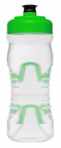 Fabric láhev 600ml - Clear/Green Cap uni