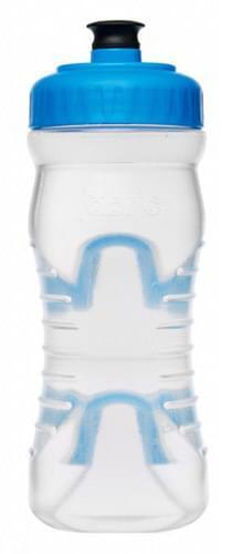 Fabric láhev 600ml - Clear/Cyan Cap uni