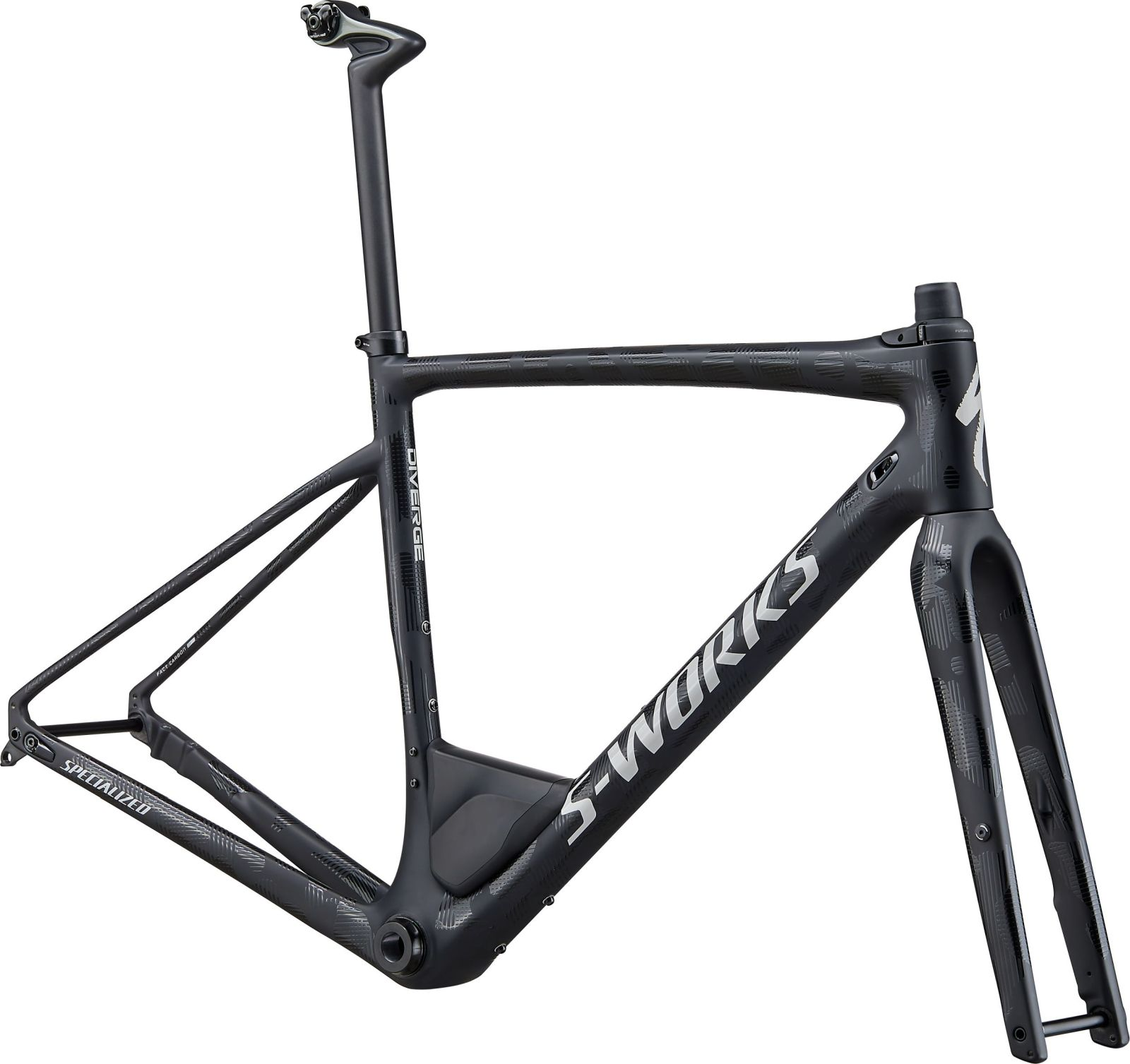 Specialized S-Works Diverge Frameset - satin/gloss black/dove grey camo 52