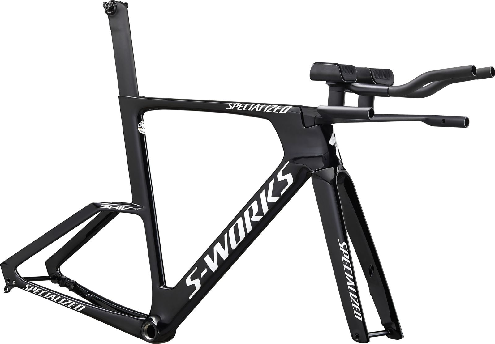 Specialized S-Works Shiv TT Disc Module - gloss tarmac black/white XS