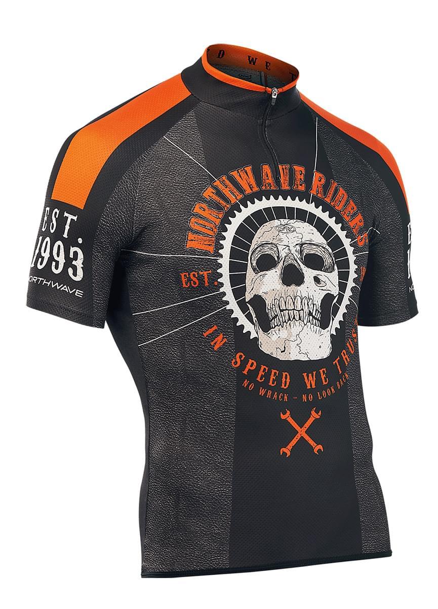 Cyklistický dres Northwave Skull – black orange - Ski a Bike Centrum ... 720c32c2b9