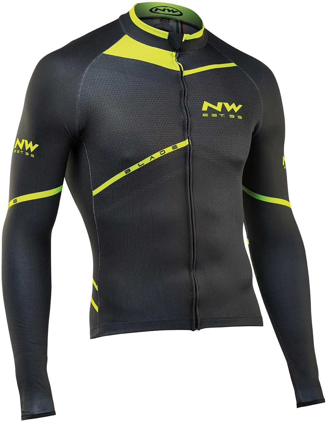 Cyklistický dres Northwave Blade Ls Black Greenfluo - Ski a Bike ... def625c5ef