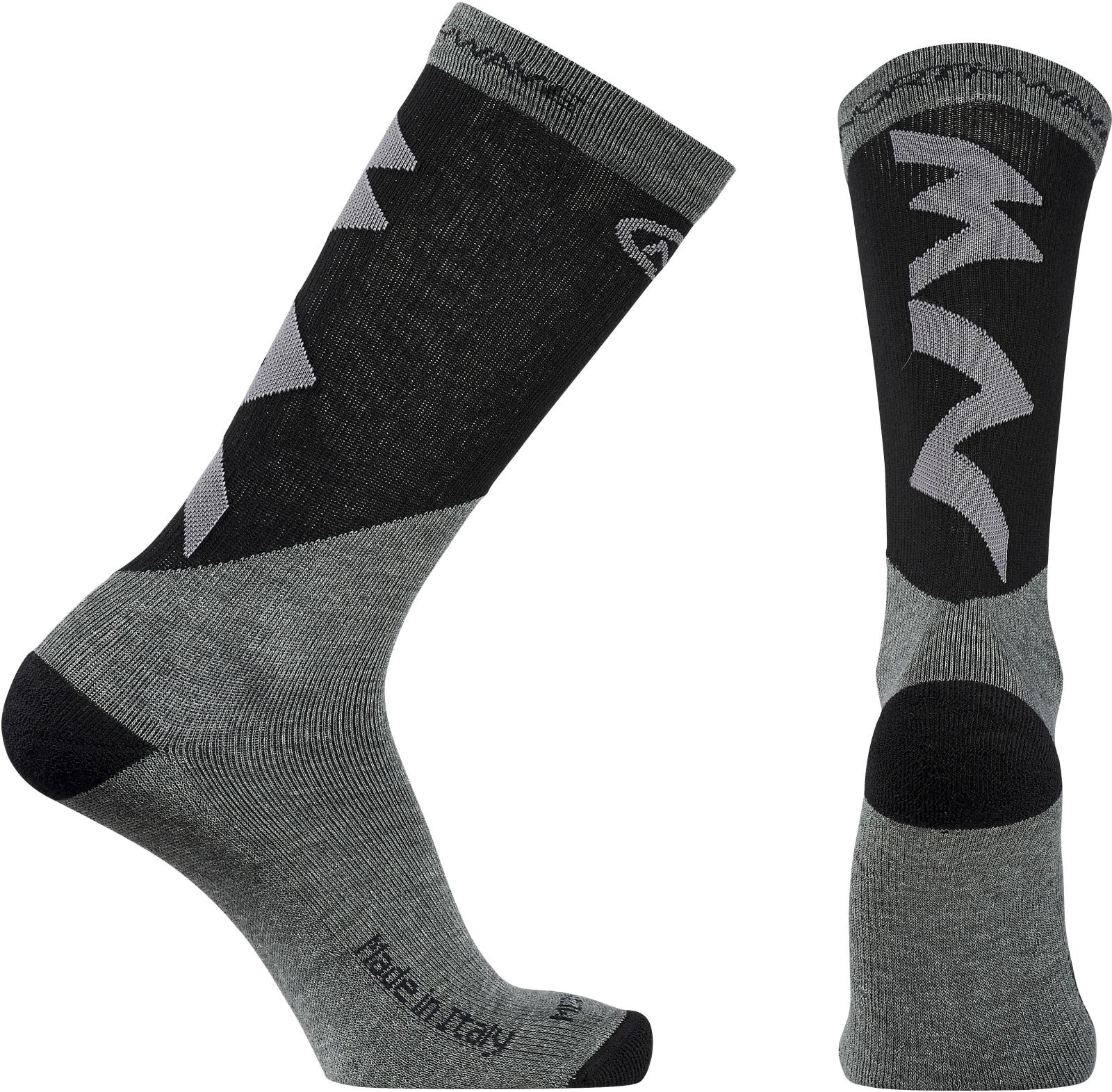 Northwave Extreme Pro High Socks - grey melange black L ba85d0019e