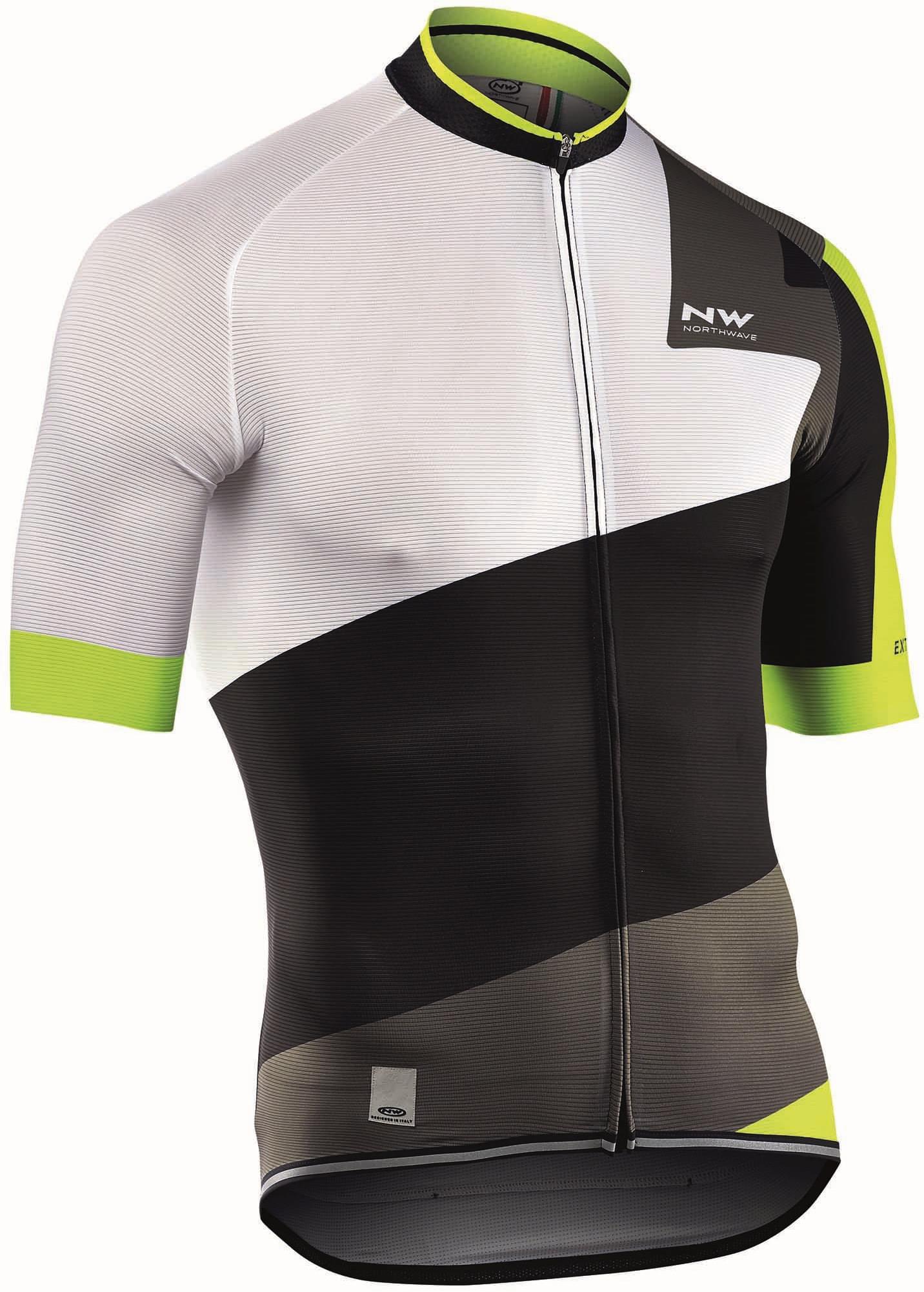 Cyklistický dres Northwave Extreme 2 Jersey Short Sleeves - white-black 3d84e4081f