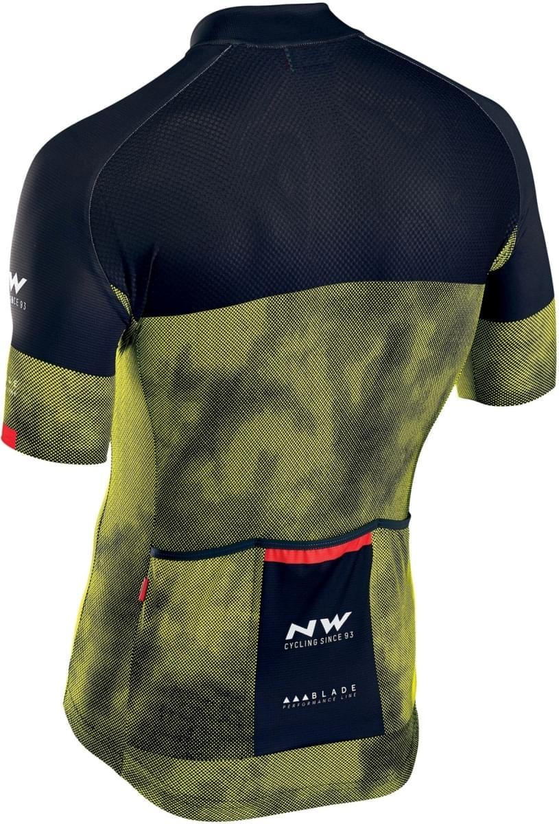 Cyklistický dres Northwave Blade 3 Jersey Short Sleeves - Yellow Fluo Black c4ce643d40