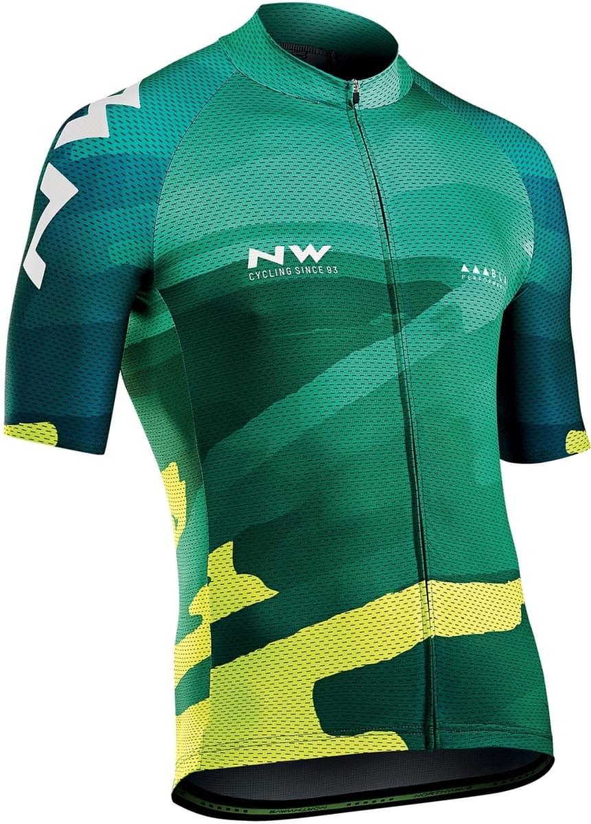 Northwave Blade 3 Jersey Short Sleeves - Green/Yellow Fluo M