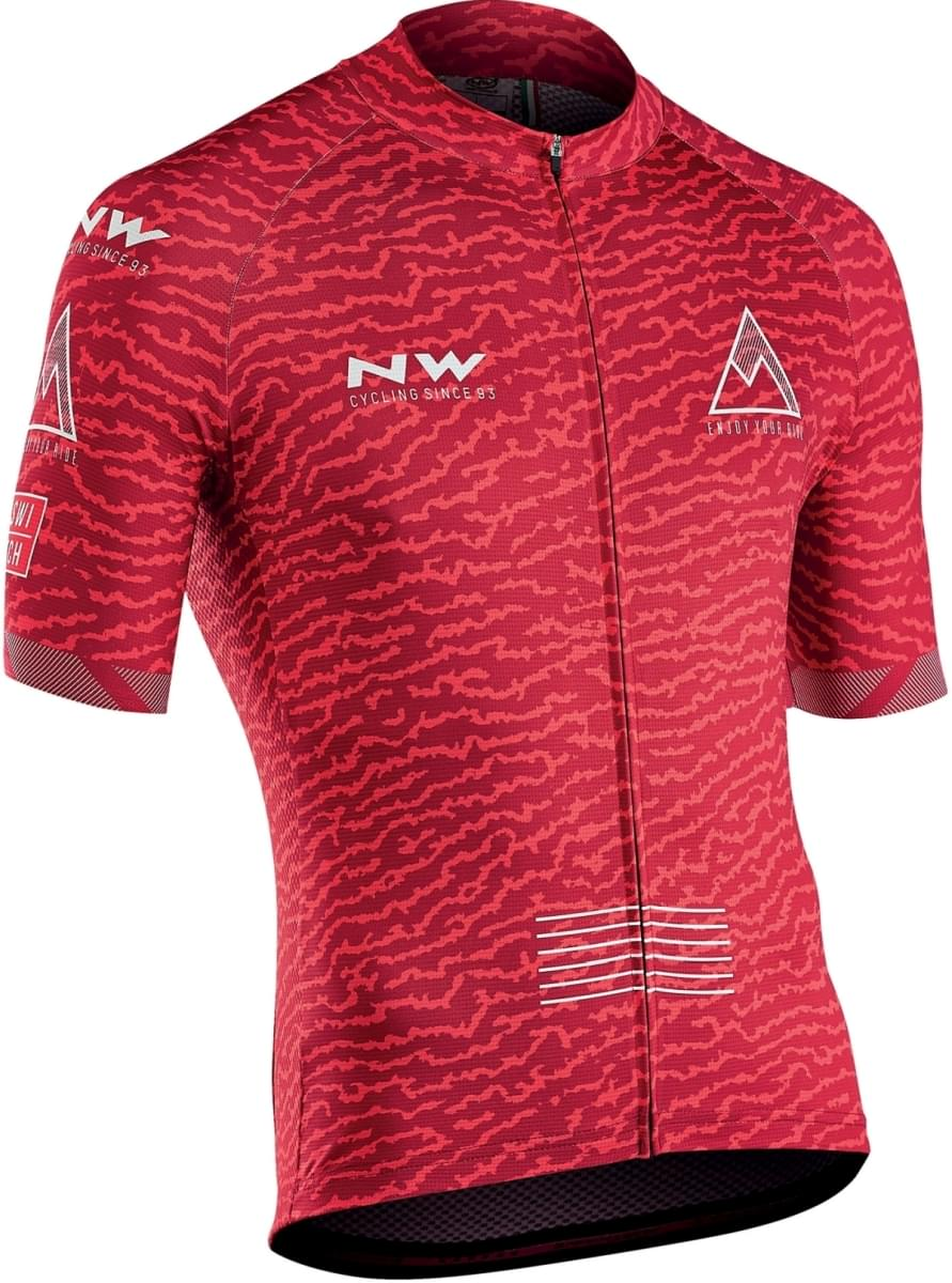 Northwave Rough Jersey Short Sleeves - Red XL