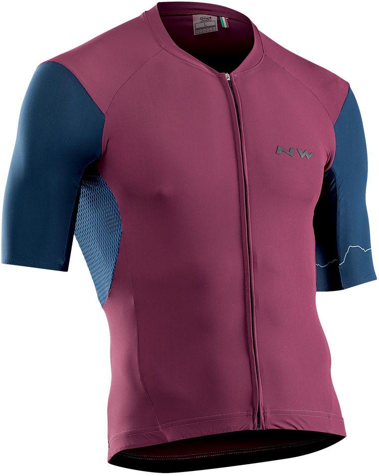 Northwave Extreme 4 Jersey Short Sleeves - Bordeaux/Blue L