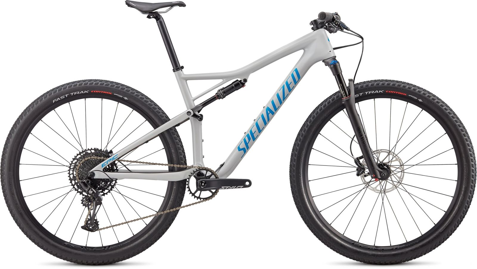 Specialized Epic Comp Carbon - gloss dove grey blue ghost pearl/pro blue L