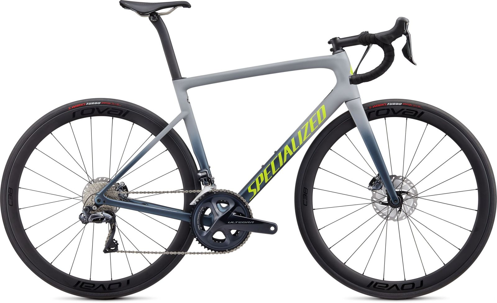 Specialized Tarmac SL6 Disc Expert Ultegra Di2 - satin cool grey/cast battleship/team yellow 44