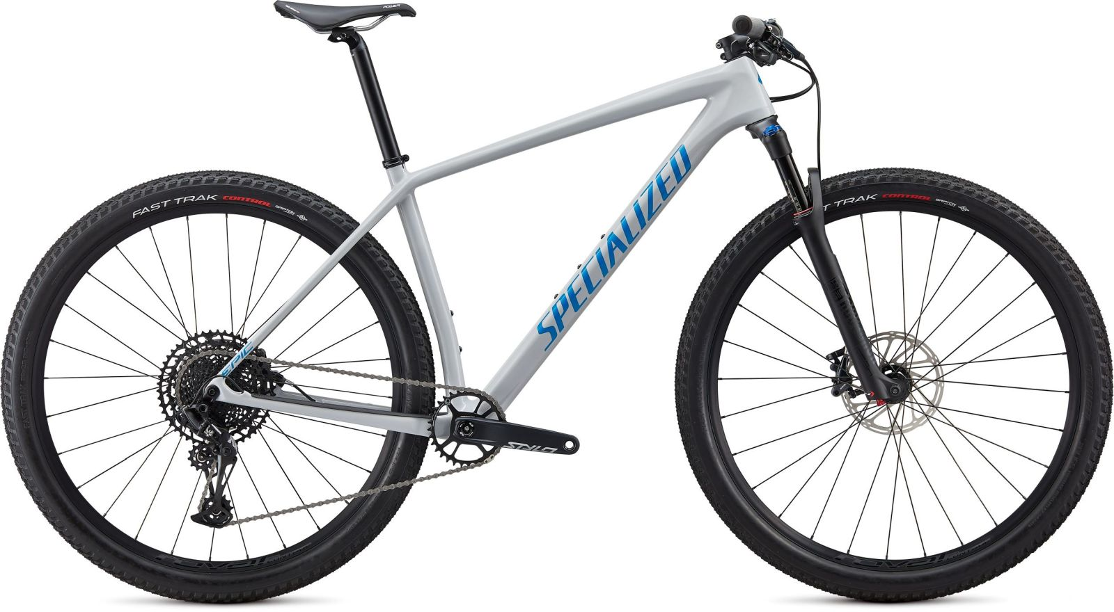 Specialized Epic HT Comp Carbon - gloss dove grey blue ghost pearl/pro blue M