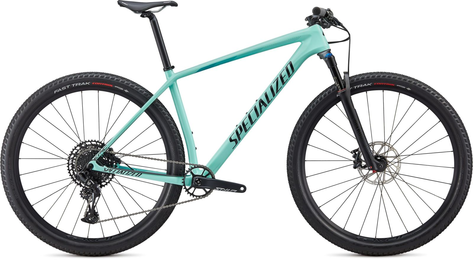 Specialized Epic HT Comp Carbon - gloss mint/tarmac black/aqua M