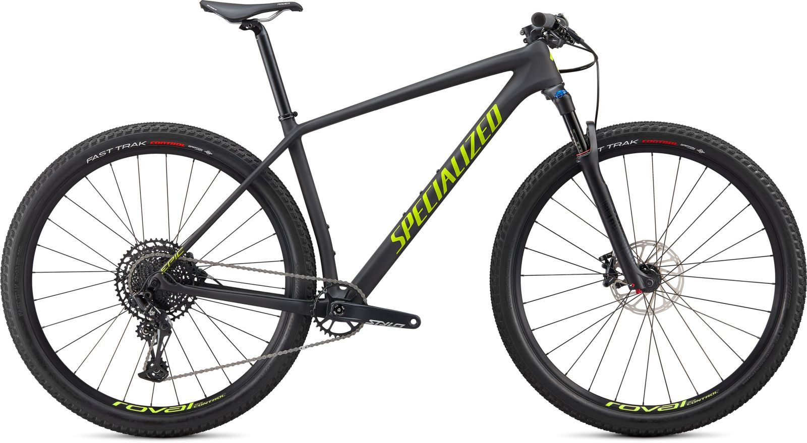 Specialized Epic HT Comp Carbon - satin carbon/hyper green S