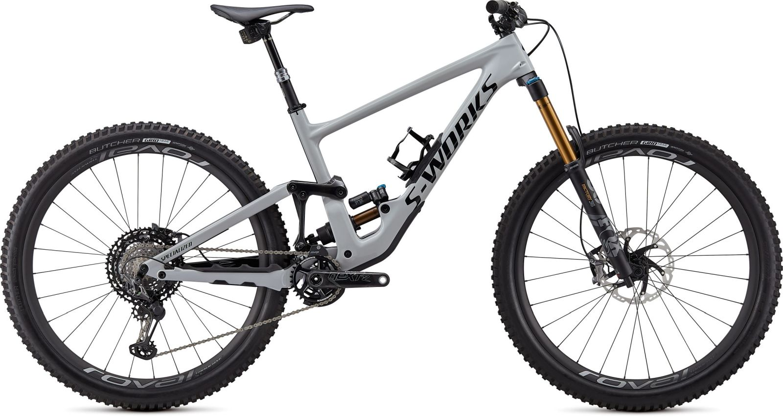 Specialized S-Works Enduro Carbon 29 - gloss dove gray / gloss black / rocket red S5