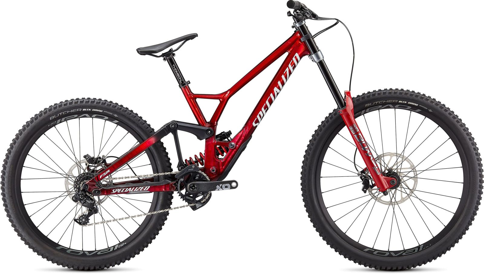 Specialized Demo Race - gloss brushed / red tint / white S2