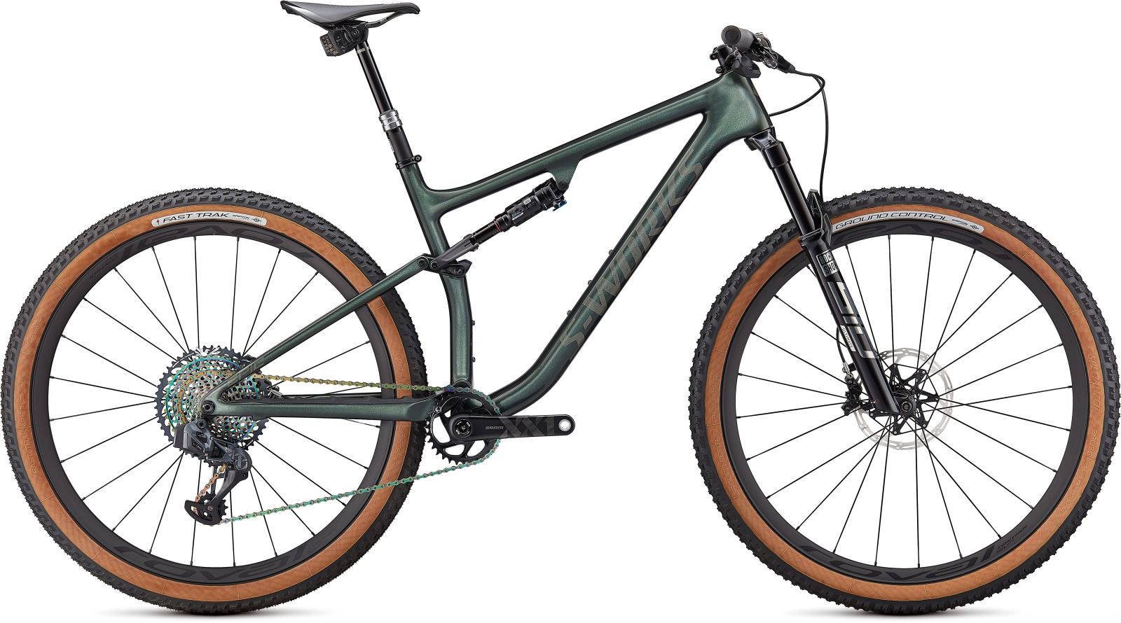 Specialized S-Works Epic Evo - gloss oak green metallic/diamond dust M