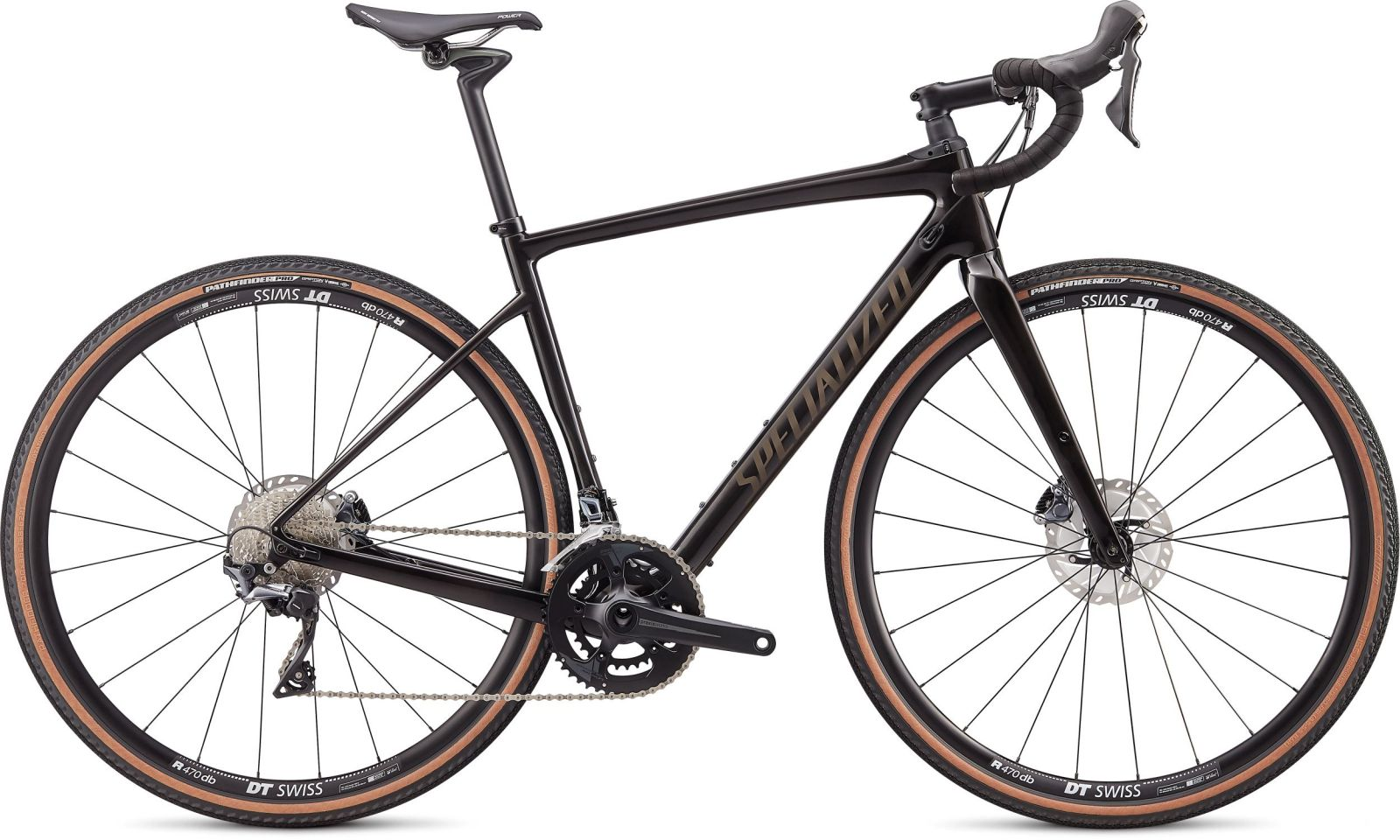 Specialized Diverge Comp Carbon - gloss carbon/gunmetal reflective clean 56