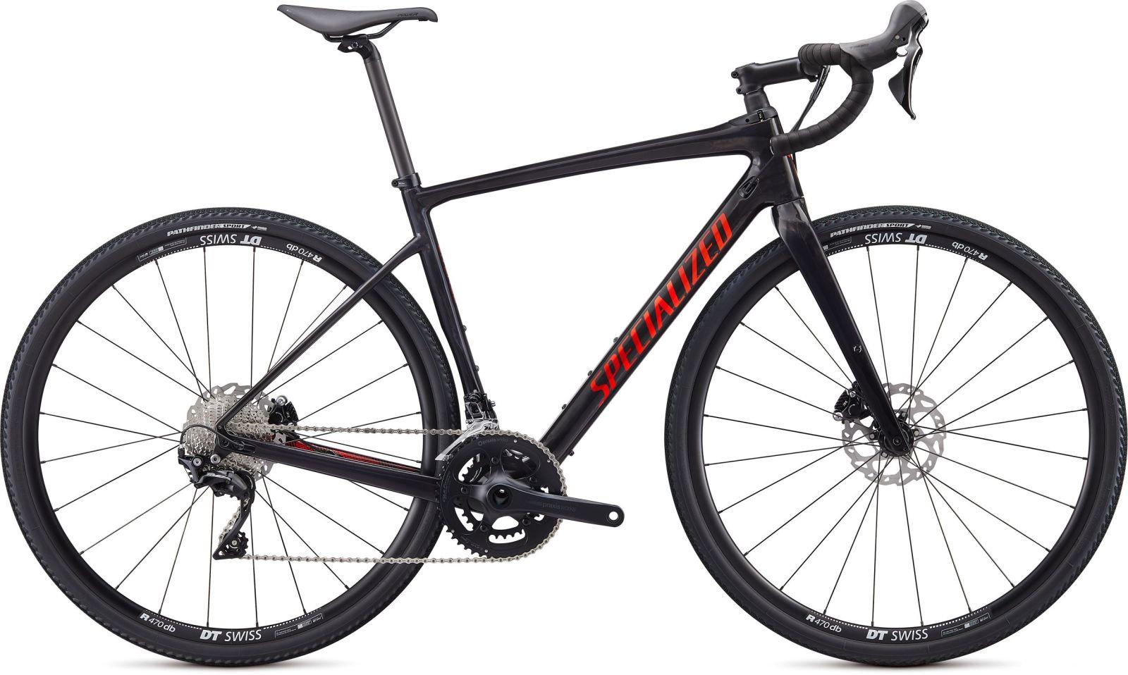Specialized Diverge Sport Carbon - gloss carbon/rocket red-crimson camo 52