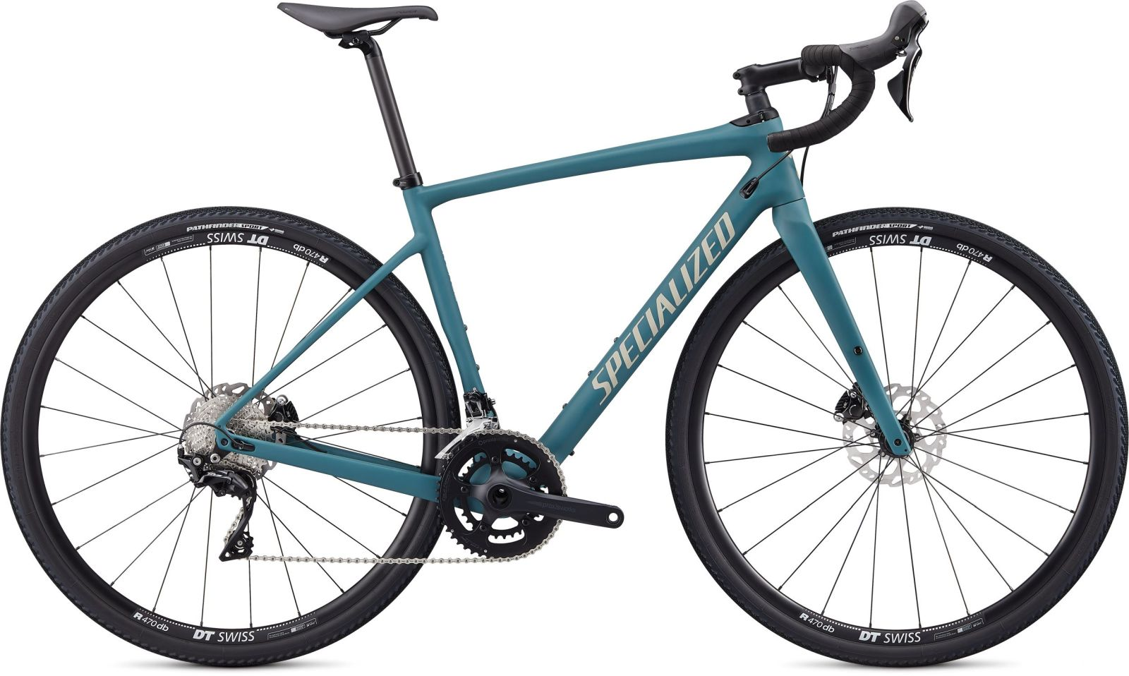Specialized Diverge Sport Carbon - satin dusty turquoise/taupe-white mountains/pearl clean 54