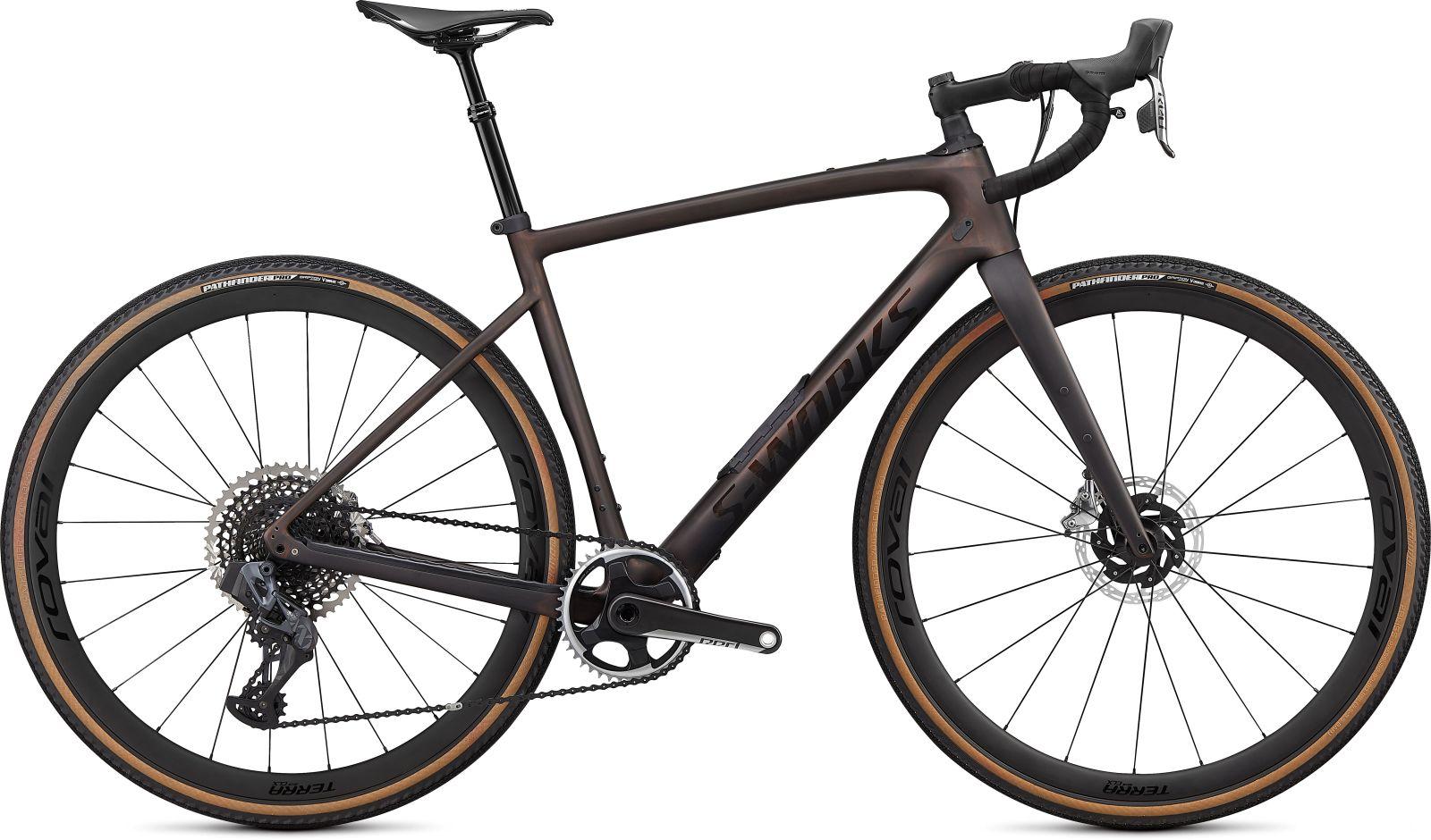Specialized Diverge S-Works Carbon Etap -Satin Carbon/Color Run Pearl/Chrome/Clean 58