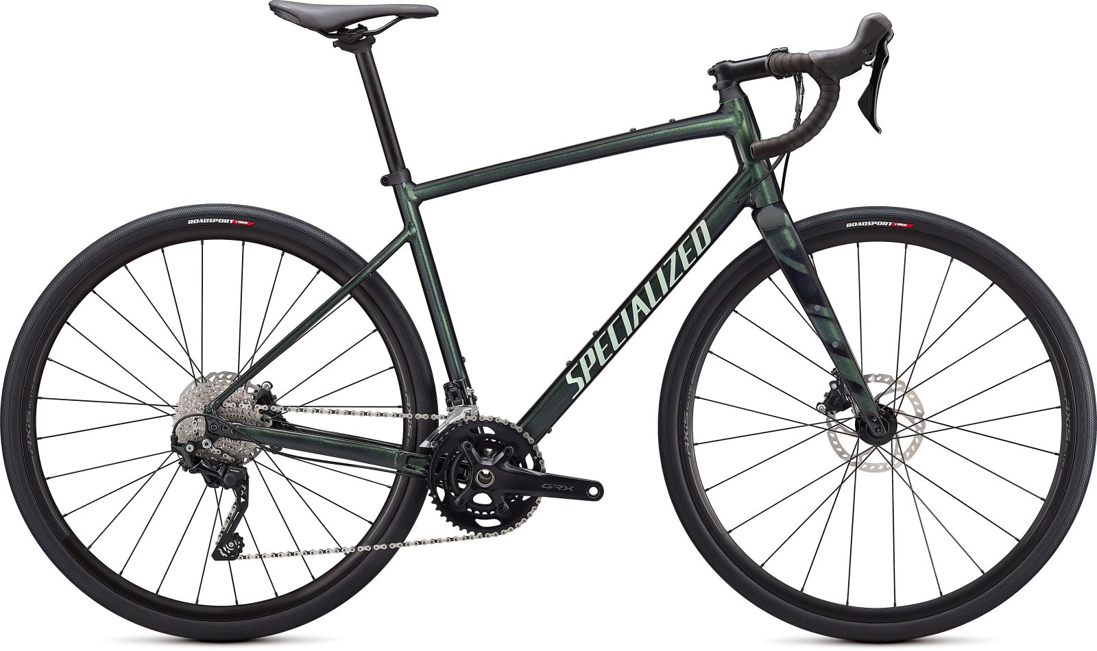 Specialized Diverge E5 Elite -Gloss Oak Metallic Green/Spruce/Chrome/Wild Ferns 52