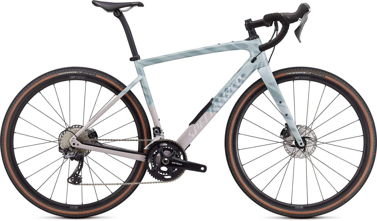 Specialized Diverge Comp Carbon -Gloss Ice Blue/Clay/Cast Umber/Chrome/Wild Ferns 49