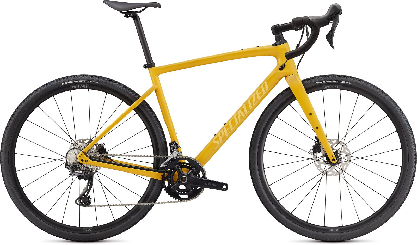 Specialized Diverge Sport Carbon -Gloss Brassy Yellow/Sunset Yellow/Chrome/Clean 56