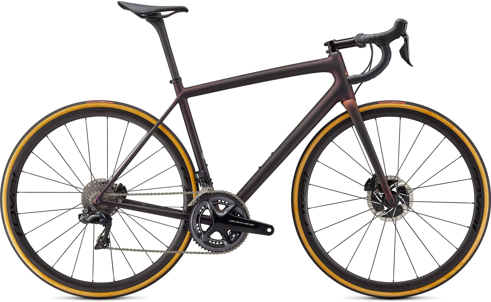Specialized S-Works Aethos Dura Ace Di2 - Satin Carbon/Red Gold Chameleon/Bronze Foil 61