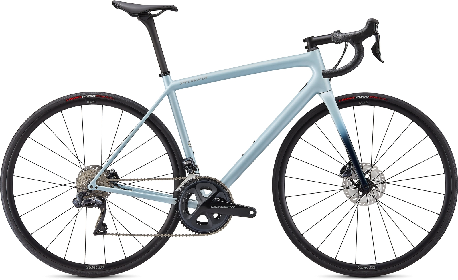 Specialized Aethos Expert - Gloss Ice Blue/Teal Tint/Flake Silver 49