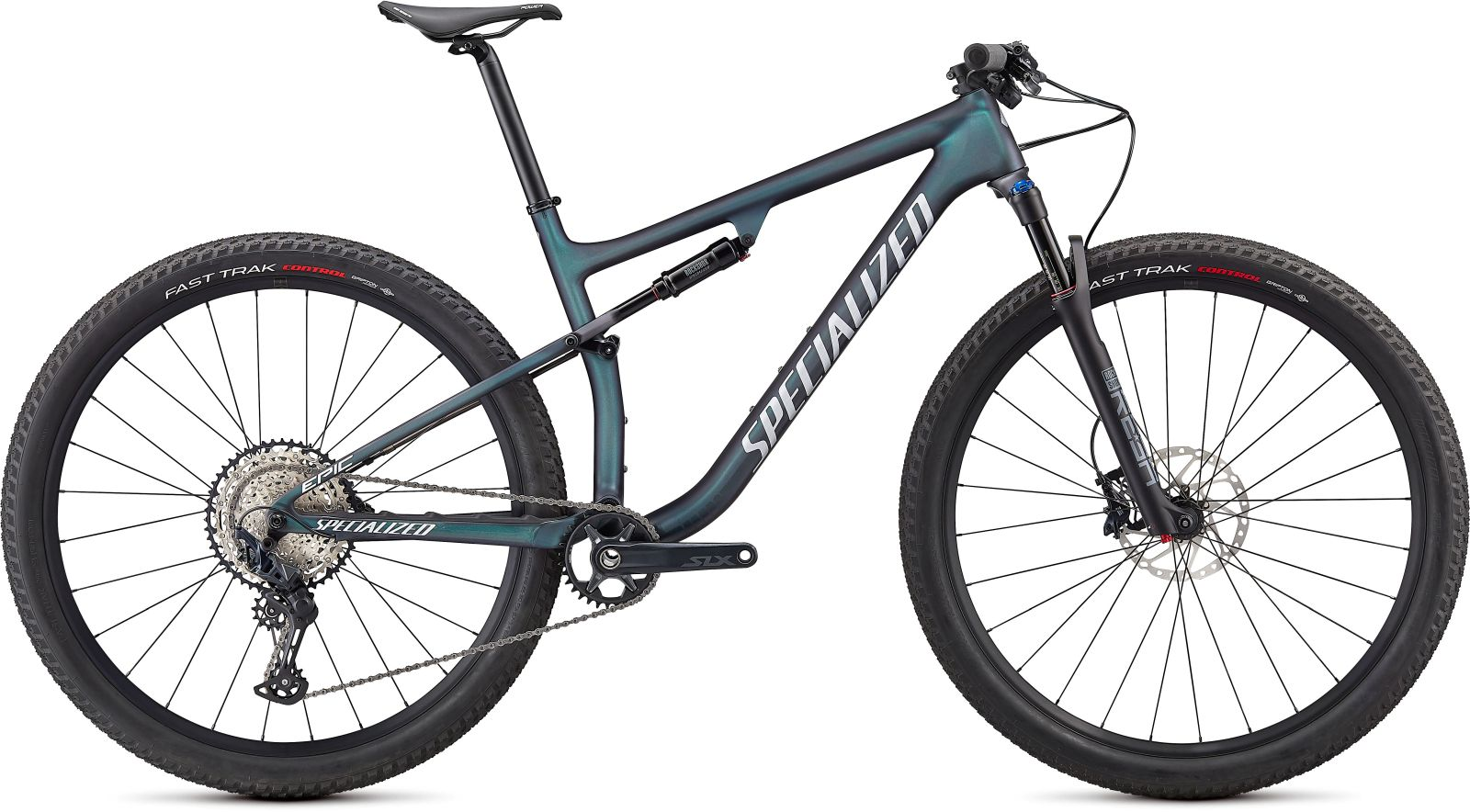 Specialized Epic Comp - satin carbon/oil chameleon/flake silver XL