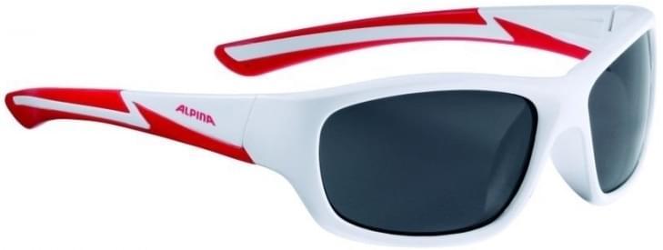 Alpina Flexxy youth - white matt-red uni