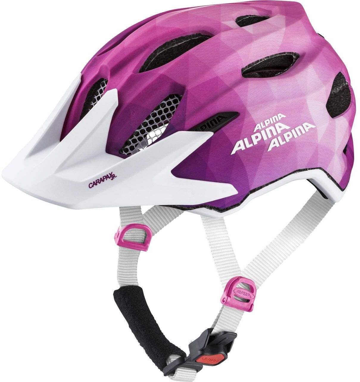 Alpina Carapax Jr. Flash - pink/white 51-56