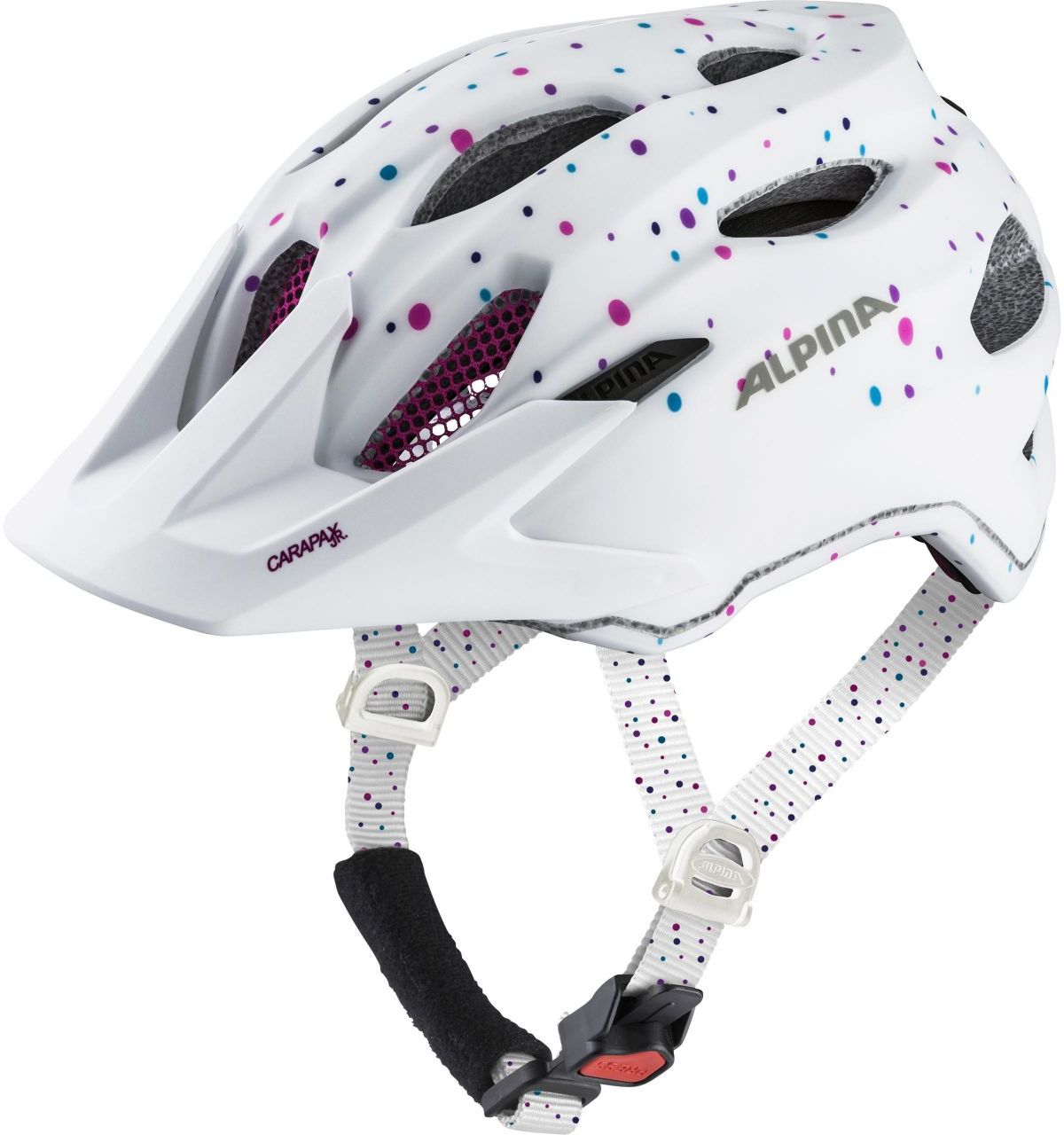 Alpina Carapax jr. - white polka dots 51-56