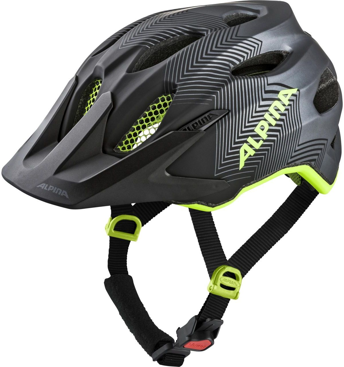 Alpina Carapax Jr. - black/neon/yellow 51-56