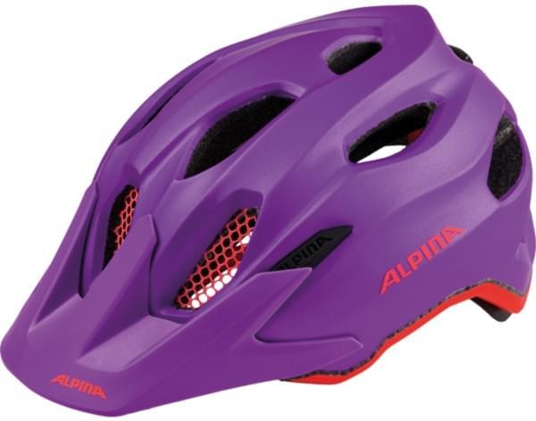 Alpina Carapax Jr. - purple-neon red 51-56