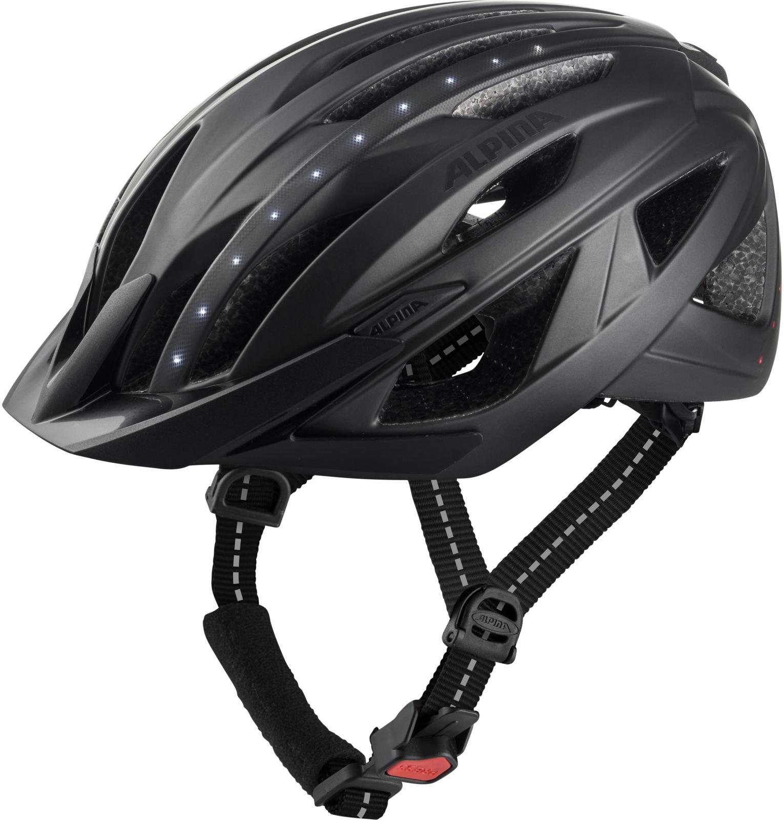 Alpina Haga LED - black matt 58-63