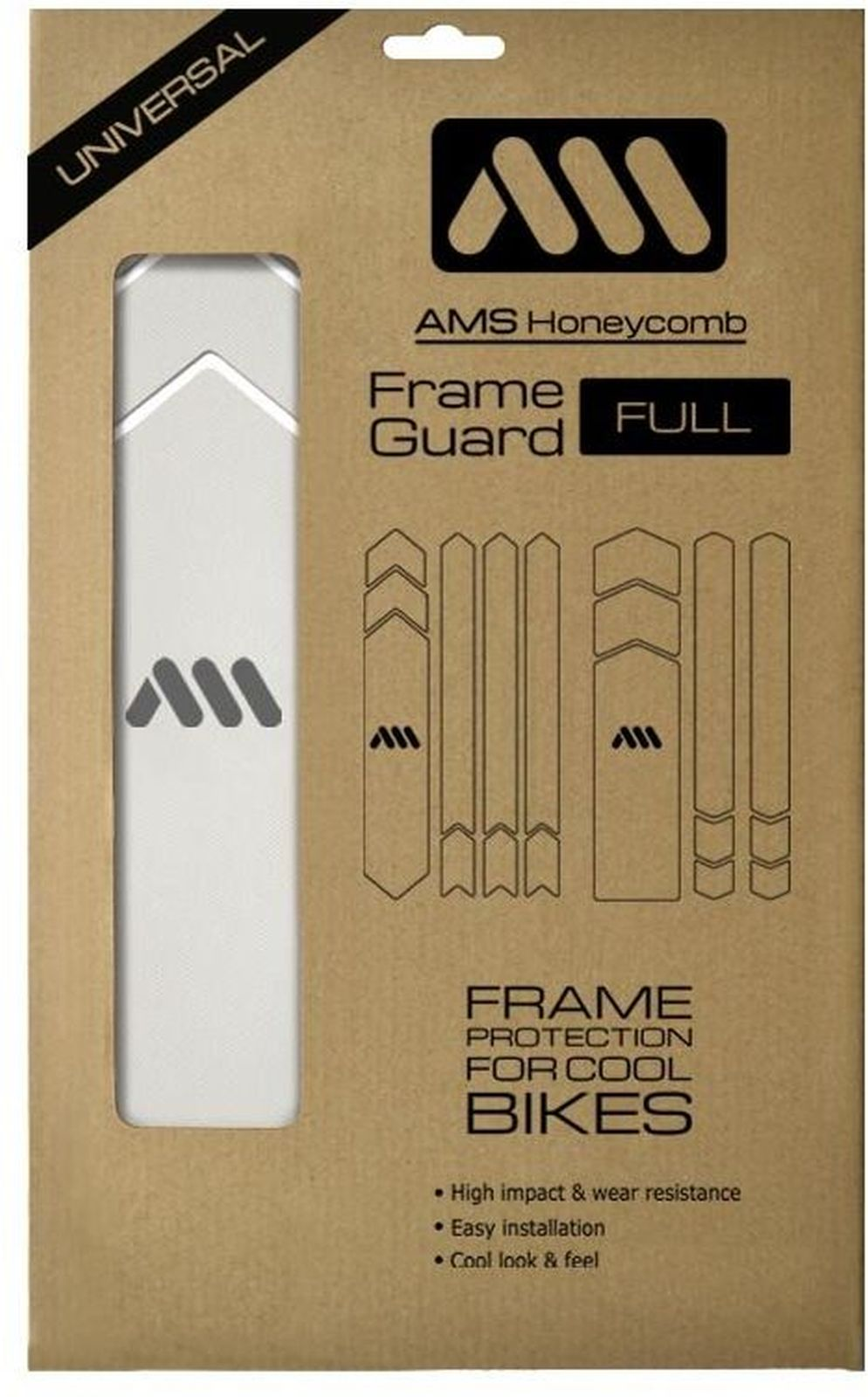 AMS Honeycomb Frame Guard Full - clear uni
