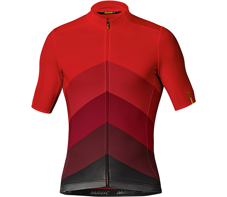Mavic Cosmic Gradiant Jersey - Fiery Red XL