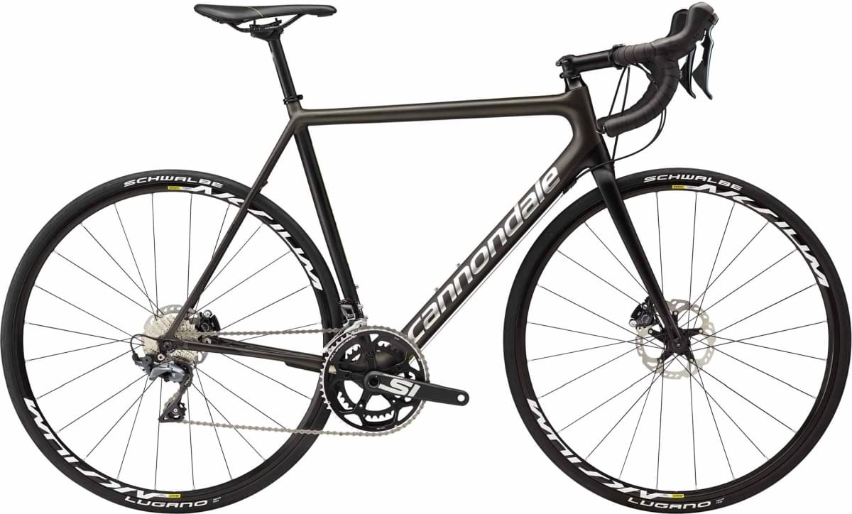 Cannondale SuperSix EVO Disc Ultegra - Anthracite w/ Jet Black, Cannondale Green and Brushed Chrome 58