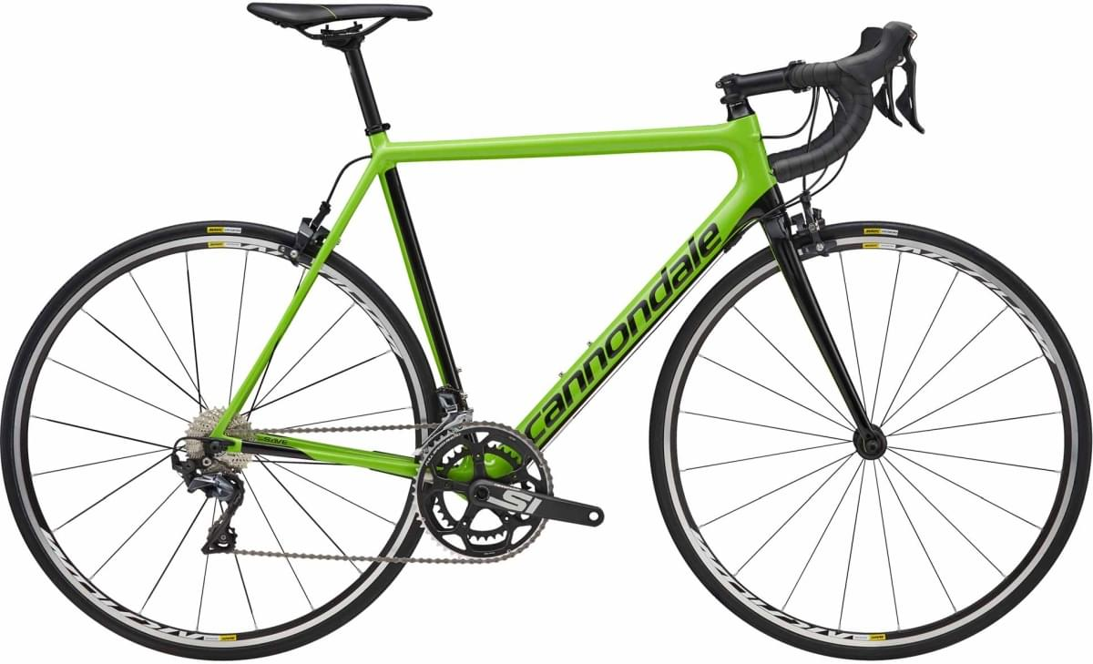 Cannondale SuperSix EVO Ultegra - Cannondale Green w/ Jet Black and Anthracite - Gloss (GRN) 58