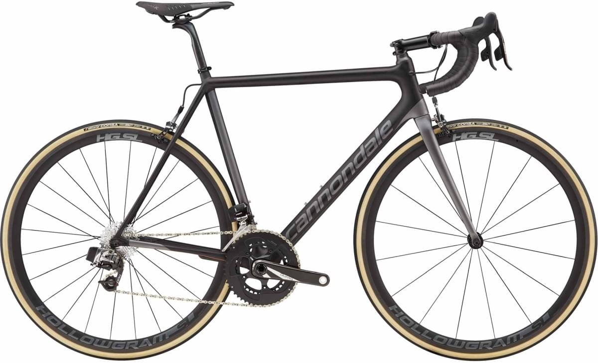 Cannondale SuperSix EVO RED eTap - Jet Black w/ Charcoal Gray and Copper - Satin (CPR) 56