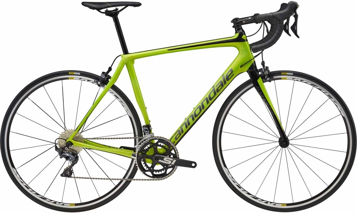 Cannondale Synapse Carbon Ultegra - Acid Green w/ Jet Black and Charcoal Gray - Gloss (AGR) 58