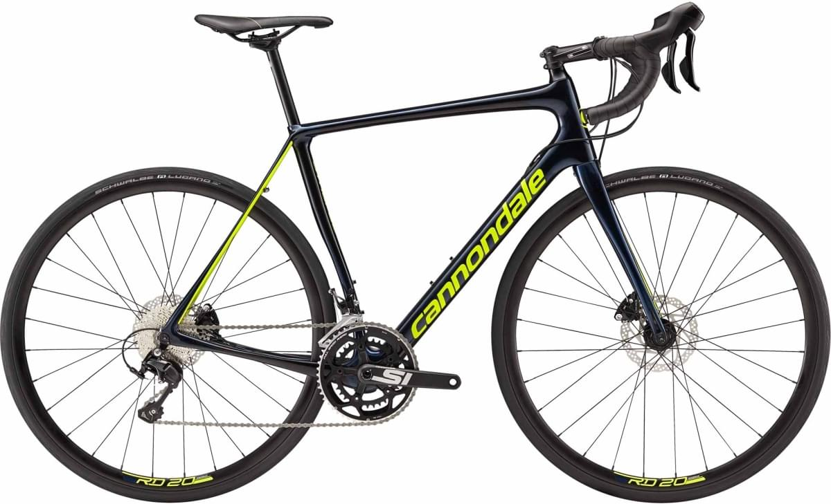 Cannondale Synapse Carbon Disc 105 - Midnight Blue w/ Jet Black and Volt - Gloss (MDN) 56