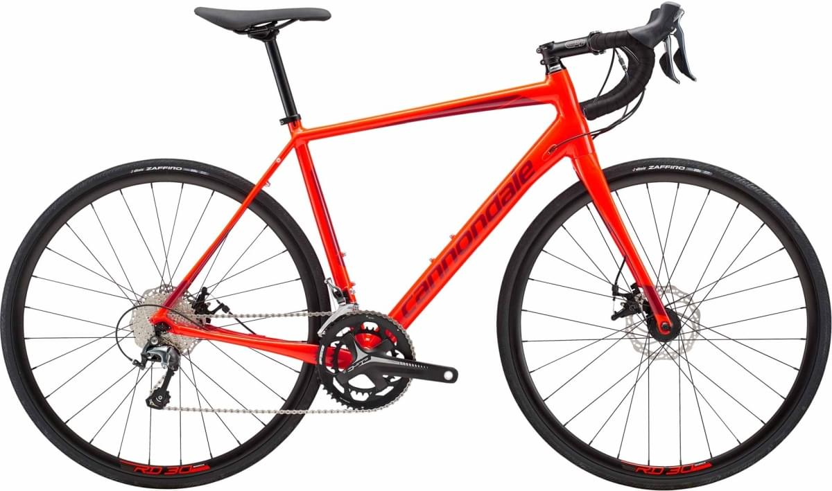 Cannondale Synapse Disc Tiagra - Acid Red w/ Fire Red - Gloss (ARD) 56