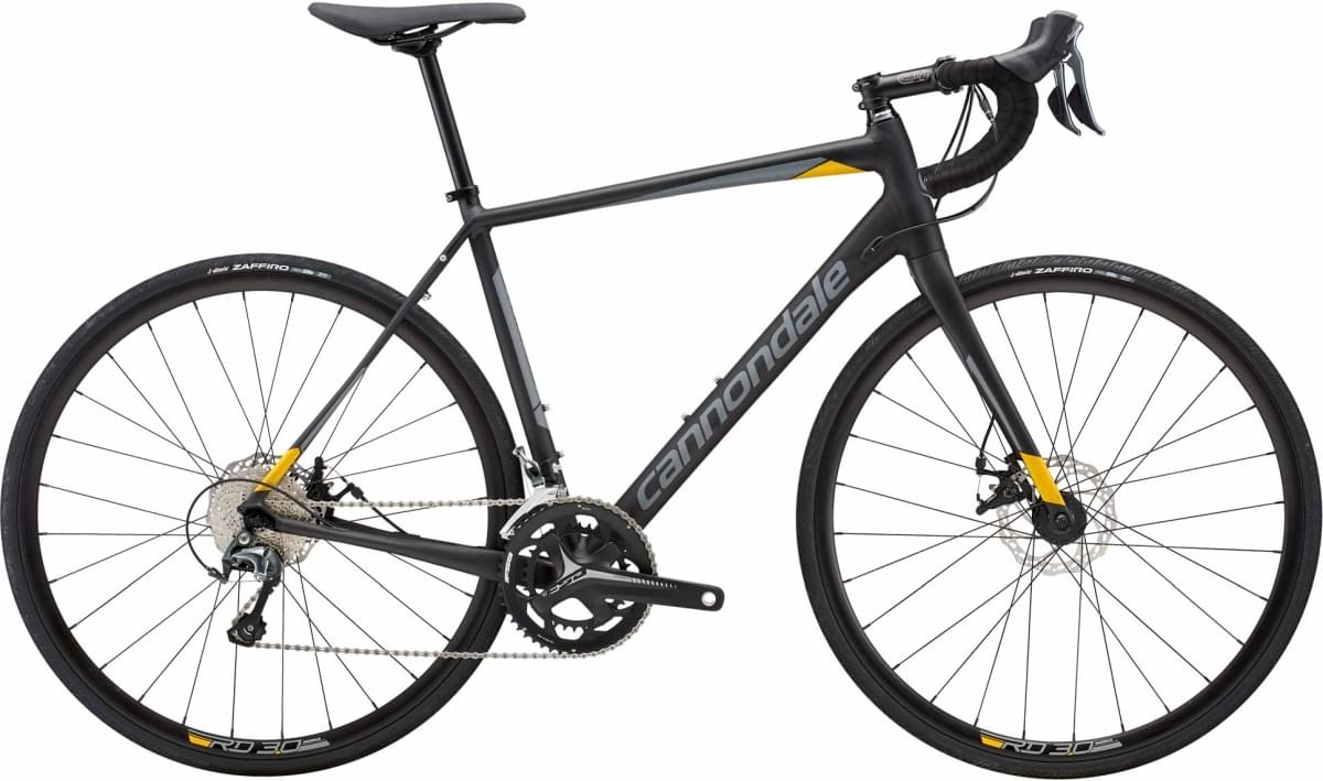 Cannondale Synapse Disc Tiagra - Jet Black w/ Stealth Gray and Nitro - Satin (NIT) 54