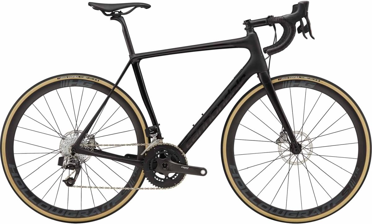 Cannondale Synapse Hi-MOD Disc RED eTap - Satin Black w/ Gloss Black and Anthracite- Satin/Gloss (BB 58