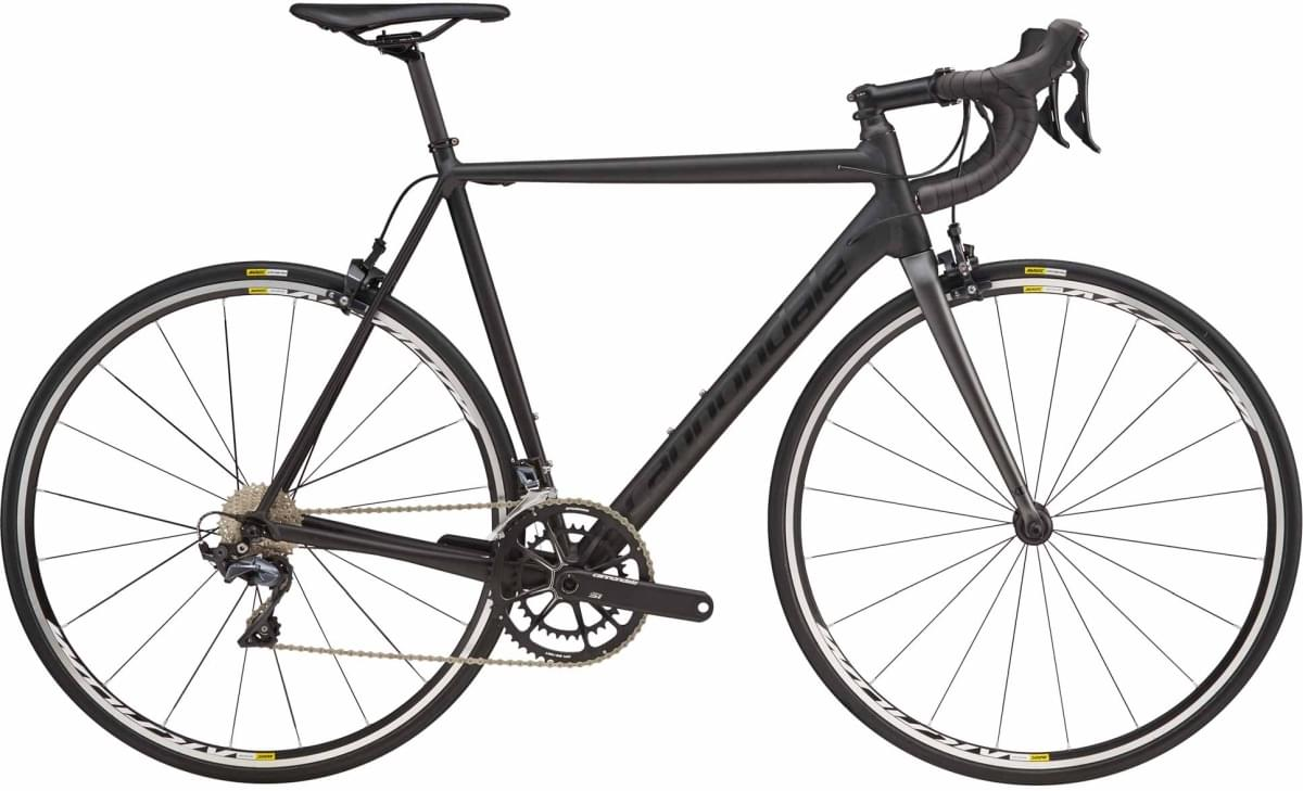 Cannondale CAAD12 Ultegra - Black Anodized w/ Charcoal Gray and Jet Black - Matte/Gloss (BLA) 56
