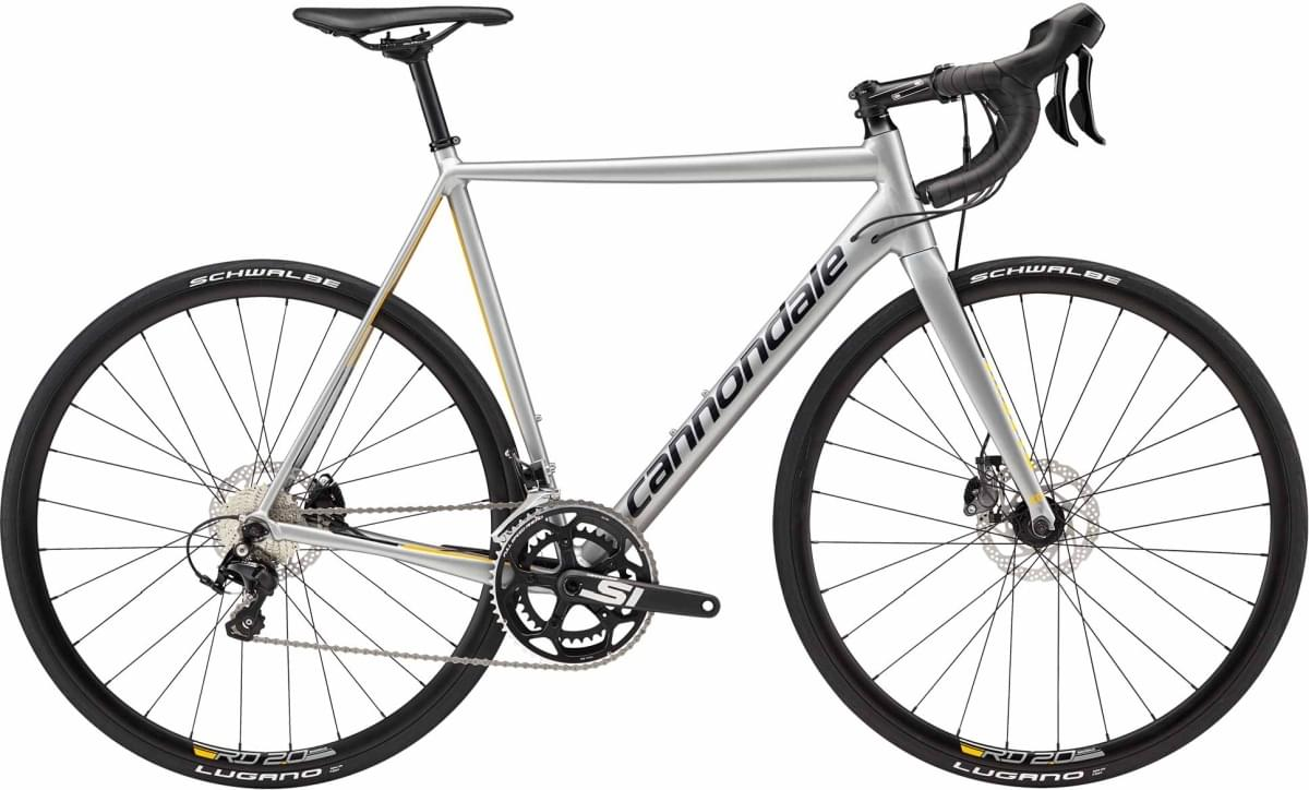 Cannondale CAAD12 Disc 105 - Ash Gray w/ Jet Black and Nitro - Gloss (ASH) 54