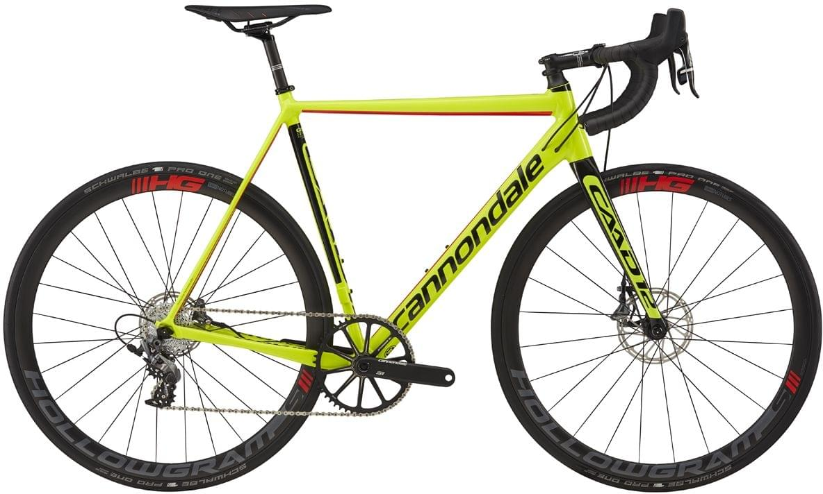 Cannondale CAAD12 Force 1 Disc - volt w/jet black and acid red, gloss 56